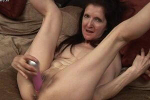 Horny British housewife and her favorite toy