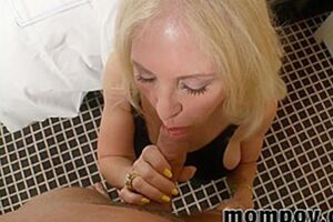 Hot Blonde Mature Gives A Grea